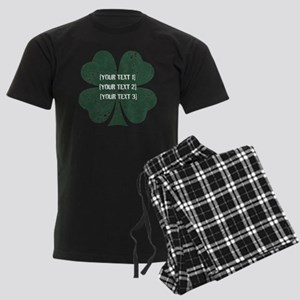 [Your text] St. Patrick's Day Men's Dark Pajamas
